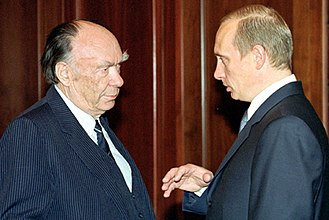 Alexander Yakovlev (Russian politician) - Yakovlev as the head of the Commission on the Rehabilitation of Soviet Repression Victims meets President Vladimir Putin