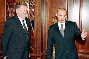 Vladimir Zhirinovsky - Zhirinovsky with Vladimir Putin in 2000