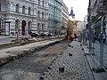 Vodičkova, rekonstrukce tramvajové trati, zastávka Vodičkova.jpg
