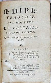 Voltaire Oedipe 2e édition Ribou 1719.JPG