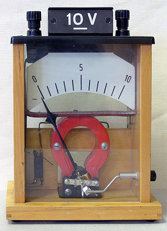 Voltmeter - Demonstration analog voltmeter