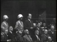 Bestand:WAR CRIMES TRIALS - NUREMBERG Short excerpts from the final speeches made by defendants.webm