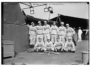 USS Washington (ACR-11) - USS Washington baseball team in 1911