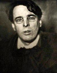 William Butler Yeats fotograferad i Dublin 1908
