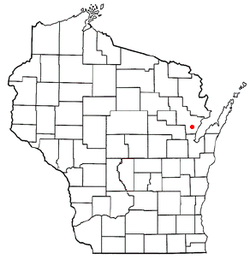 Location of Abrams, Wisconsin