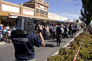 WIN Television - A camera operator for WIN News Riverina.