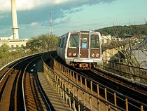 WMATA Breda 3000-Series car on D Route Bridge.jpg