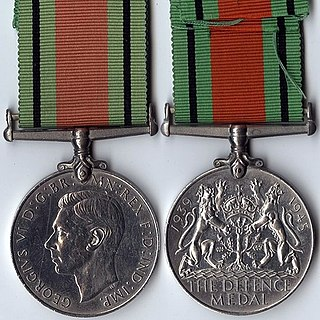 Defence Medal (United Kingdom) Award