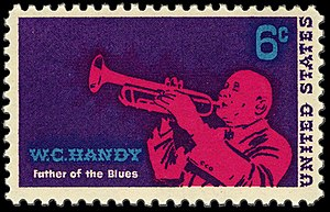 "Music of Alabama - A stamp commemorating W.C. Handy, considered by many the ""father of the blues"""