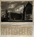 Wadham College, Oxford; from the garden. Line engraving by J Wellcome V0014183.jpg