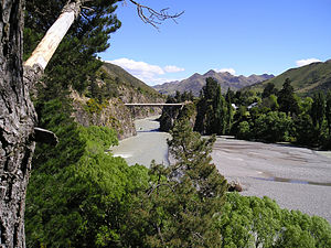 Hanmer Springs - The Waiau Ferry Bridge over the Waiau River, just outside Hanmer Springs