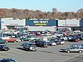 A Wal-Mart in Virginia, a typical big-box retail strip.