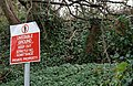 Warning sign, Magheramorne - geograph.org.uk - 639518.jpg