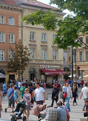 """Coffeeheaven - Krakowskie Przedmieście in Warsaw, rebranded """"Costa by Coffeeheaven"""", 2013"""