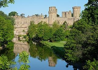 Warwick Castle Medieval motte-and-bailey castle in Warwickshire, England