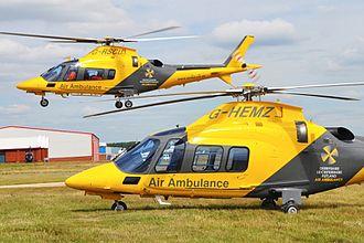 The Air Ambulance Service - Image: Warwickshire & Northamptonshire Air Ambulance and Derbyshire, Leicestershire & Rutland Air Ambulance Helicopters