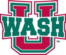 Washington University's school colors of red and green Washington University Bears primary athletic logo.png