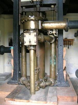Water engine - Image: Wassersäulenmaschine