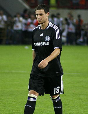 Wayne Bridge - Wayne Bridge playing for Chelsea in 2008