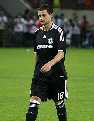 Wayne Bridge - Wayne Bridge playing for Chelsea in 2008