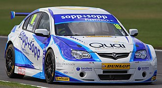 Daniel Welch (racing driver) - Daniel Welch in his NGTC Proton Persona during the 2013 BTCC Snetterton GP.