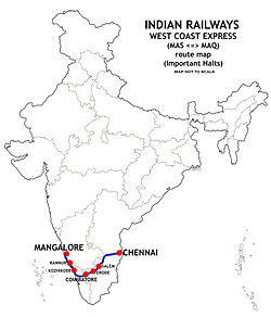 West Coast Express (India) Route map.jpg