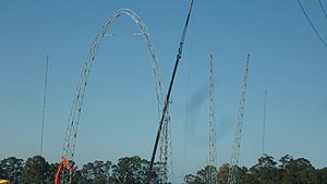 Wet'n'Wild Sydney - The Sydney SkyCoaster during construction