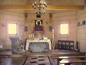 Wola Michowa - Image: Wewnętrzne interier kościóła w Woli Michowej