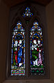 Wexford Church of the Immaculate Conception North Aisle Window Saint Anne, Virgin Mary, and Saint Joseph 2010 09 29.jpg