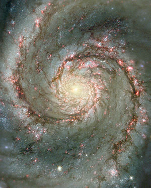 Hubble telescope picture of the Whirlpool Galaxy.