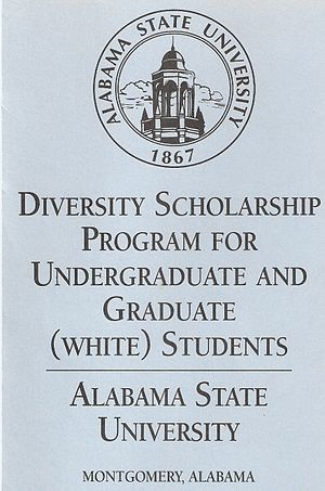 White-Only Scholarship Brochure used by ASU to...