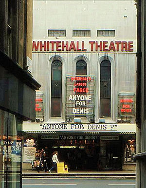 Trafalgar Studios - The Whitehall Theatre pictured in 1981.