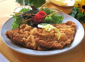 Central European cuisine - Austrian Wiener Schnitzel