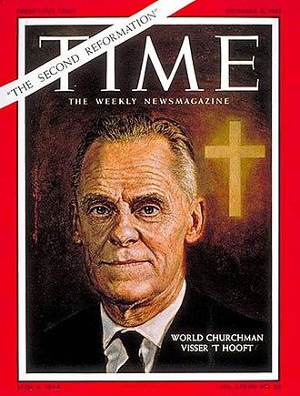 Willem Visser 't Hooft - Visser 't Hooft on the cover of Time (December 8, 1961)