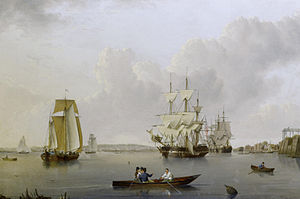 William Anderson - Merchant ships and Indiamen lying off the Isle of Dogs...etc.jpg