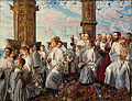 William Holman Hunt - May Morning on Magdalen College, Oxford, Ancient Annual Ceremony - Google Art Project.jpg