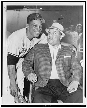 Roy Campanella - Willie Mays with Roy Campanella (1961)
