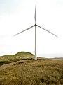 Wind Turbine and Dunwan Hill - geograph.org.uk - 1542106.jpg