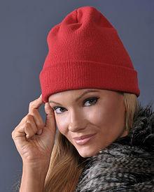 a toboggan cap