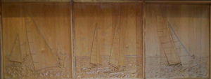 Sailing at the 1976 Summer Olympics - Image: Woodcarve Finn, Tornado, Tempest