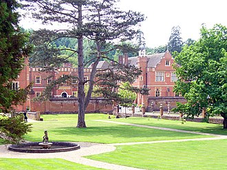 Wotton House, Surrey - View of grounds around entrance towards front courtyard