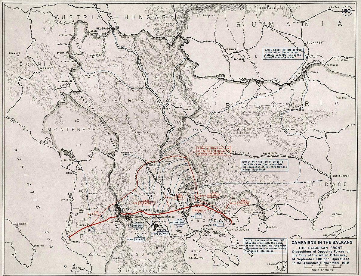 Liberation of Serbia, Albania and Montenegro (1918)