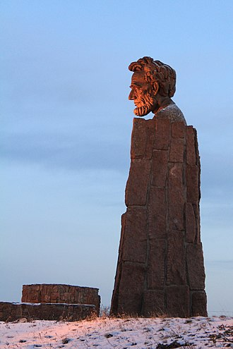 Abraham Lincoln Memorial Monument - Image: Wyoming Lincoln Monument 2