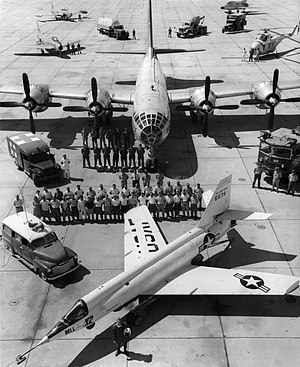 Bell X-2 - X-2, crew, B-50 mothership, and support equipment