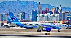 Interjet - An Interjet A320 taxiing at Las Vegas McCarran International Airport (March 2017)