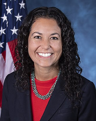 United States congressional delegations from New Mexico - Image: Xochitl Torres Small, official portrait, 116th Congress