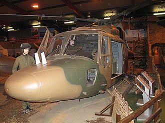 Westland Lynx - Lynx XX153, which broke the helicopter speed record in 1972, preserved on public display