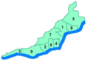 Yalta Municipality - Administrative divisions of the Yalta municipality