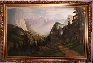 Early California artists - Image: Yosemite Valley by Joseph John Englehart signed C.N. Doughty 83x 56inch low