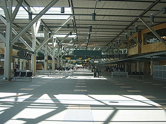 Vancouver International Airport - US Preclearance Annexe of the International Terminal's check-in hall.